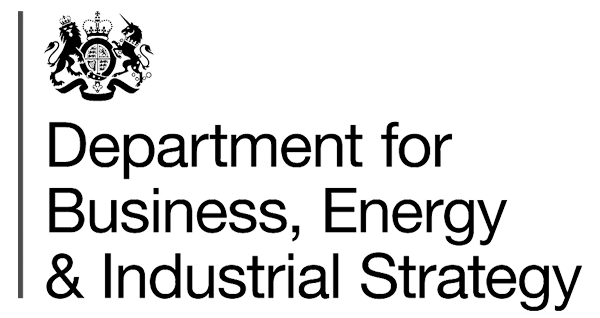 Logo for the UK Department for Business, Energy and Industrial Strategy