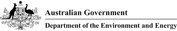 Logo for the Australian Government Department of the Environment and Energy