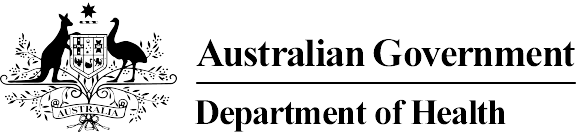 Logo for the Australian Government Department of Health