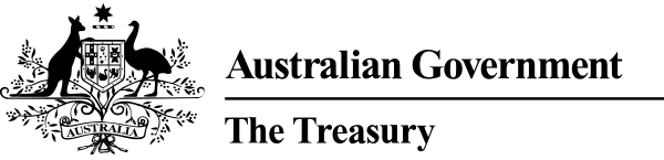 Logo for the Australian Government Treasury