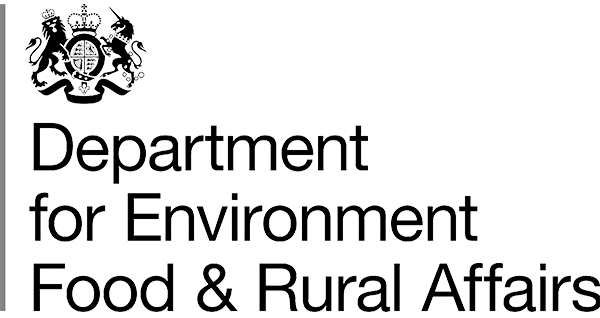 Logo for the UK Government Department for Environment Food and Rural Affairs